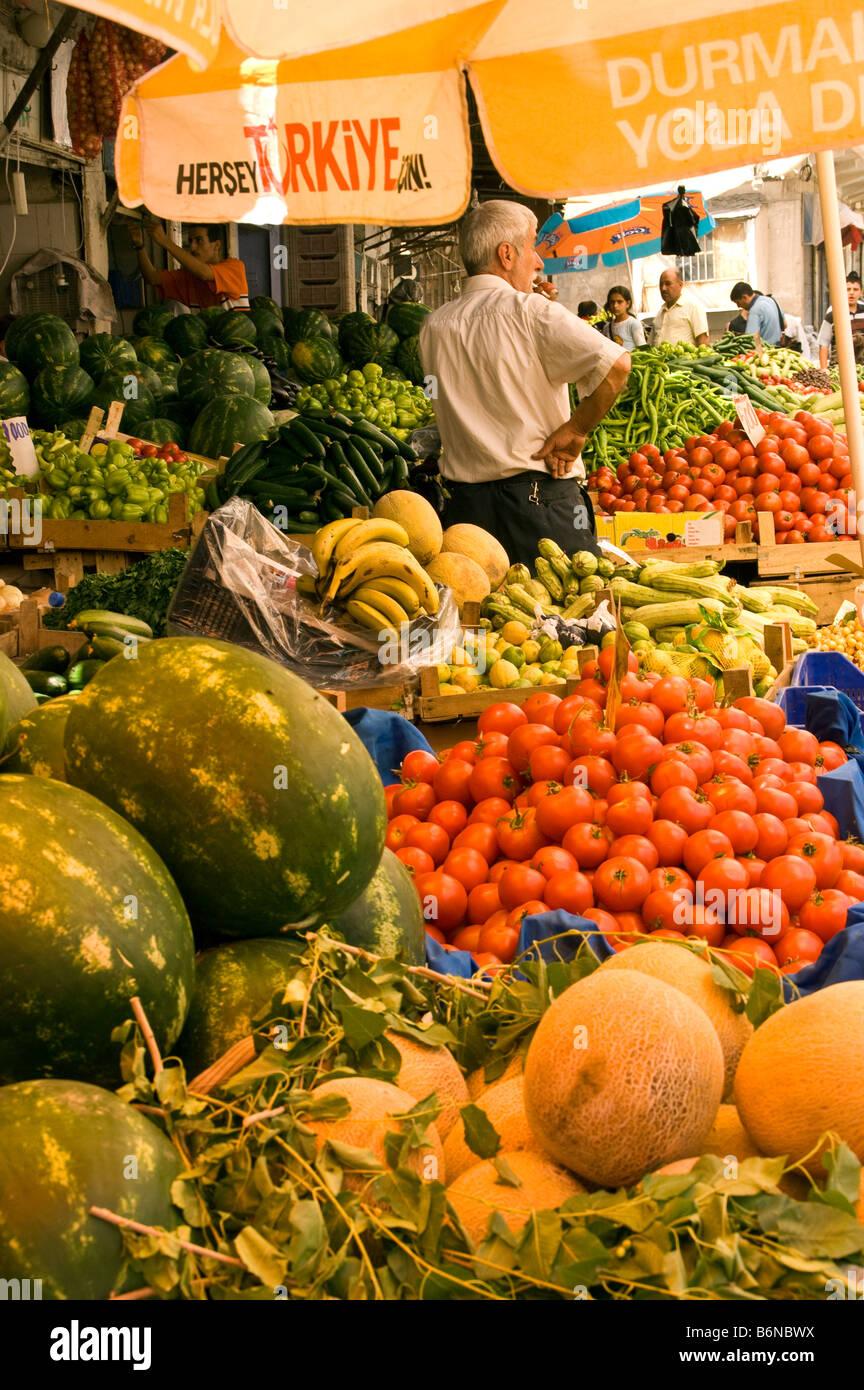 Mardin, old bazaar vegetable stand - Stock Image