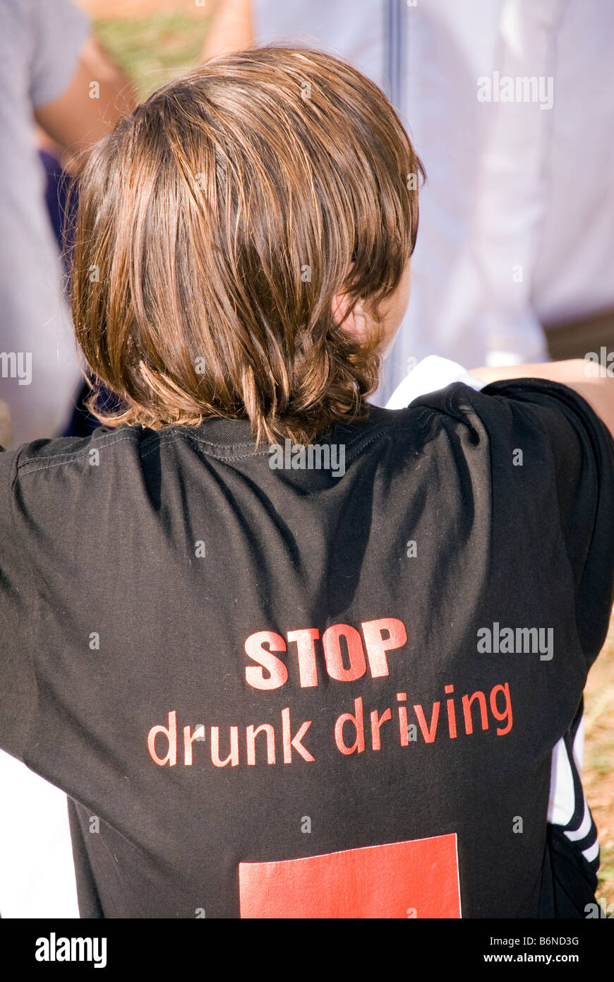 drunk driving campaign at beirut marathon 2008 - Stock Image