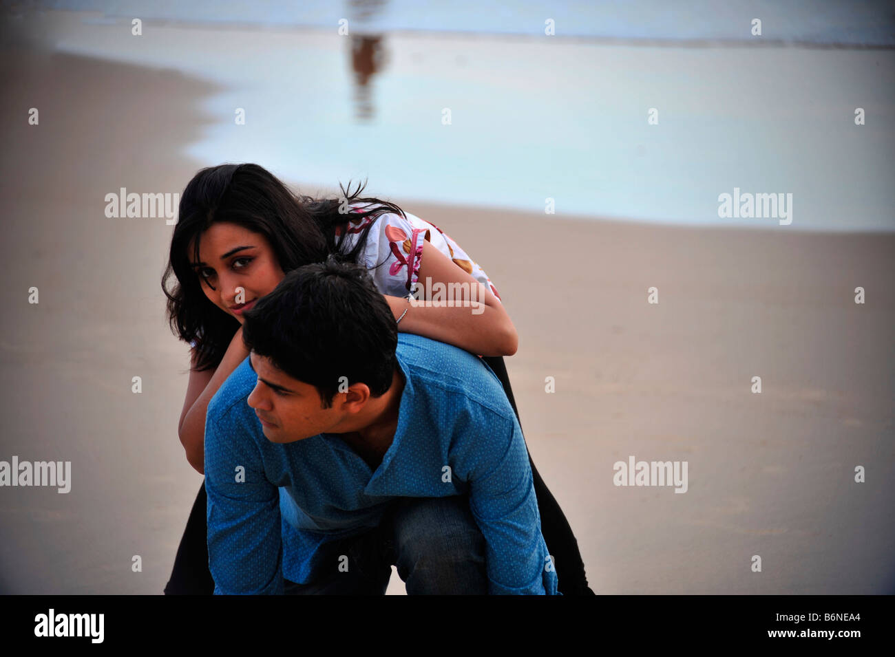 Love Pose Of An Indian Boy And Girl Stock Photo 21370556 Alamy
