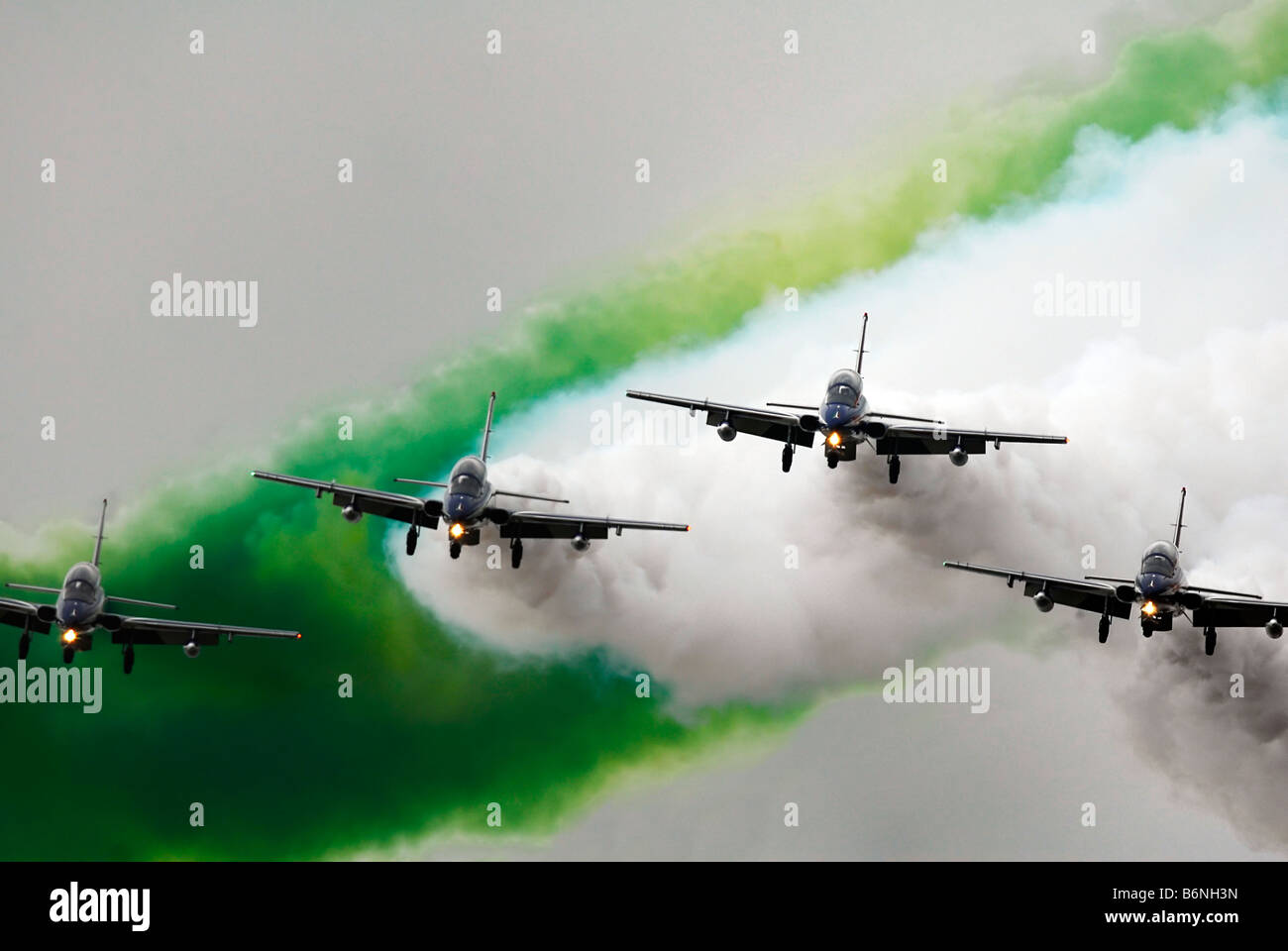 "Italian acrobatic squadron ""Frecce Tricolori"" Stock Photo"