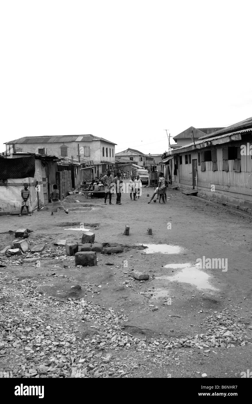 Ghana, Accra, Fort District. Street. - Stock Image