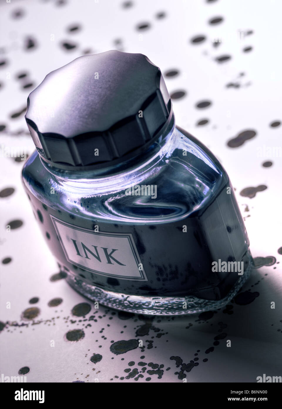 Ink bottle - Stock Image