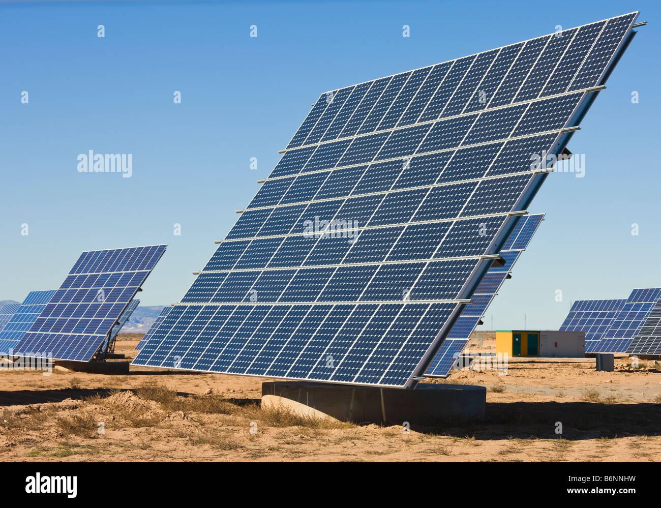 Solar energy centre near La Calahorra Granada Province Spain - Stock Image
