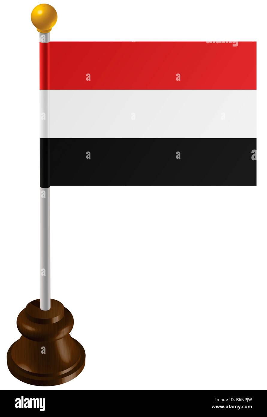 Yemen flag as a marker - Stock Image