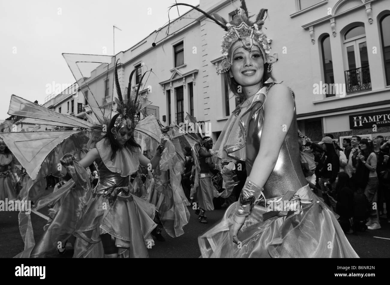UNITED KINGDOM, ENGLAND, 25th August 2008. The parade on the final day of the Notting Hill Carnival. - Stock Image