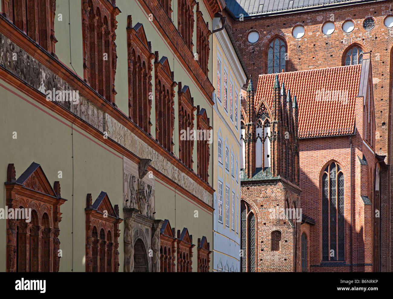 Church architecture Wismar Germany - Stock Image