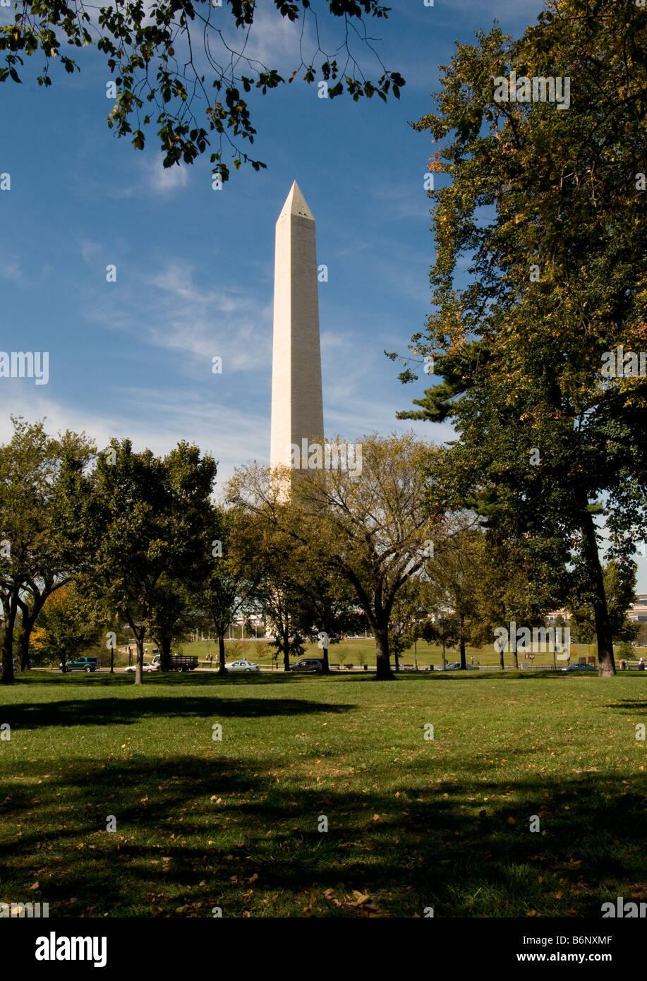Washington Monument, Washington DC USA - Stock Image