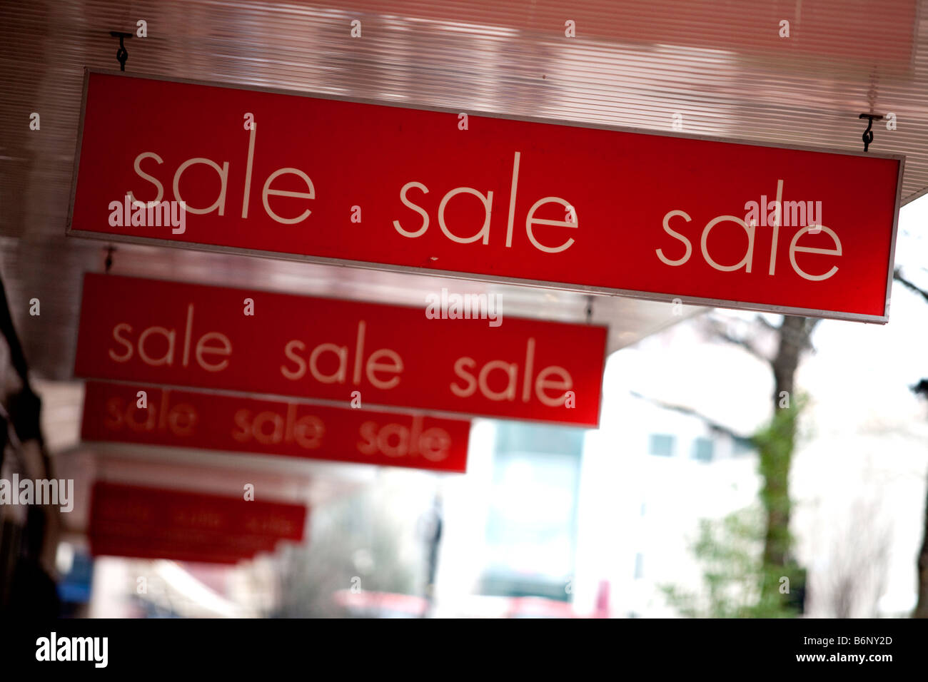 Christmas New Year sales in stores in the centre of Birmingham England UK - Stock Image