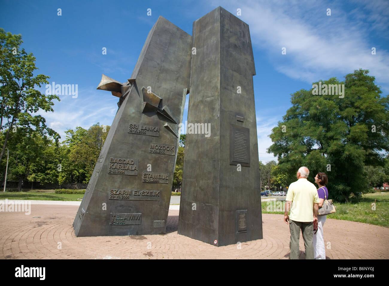 9/11 Memorial  Kielce Poland - Stock Image