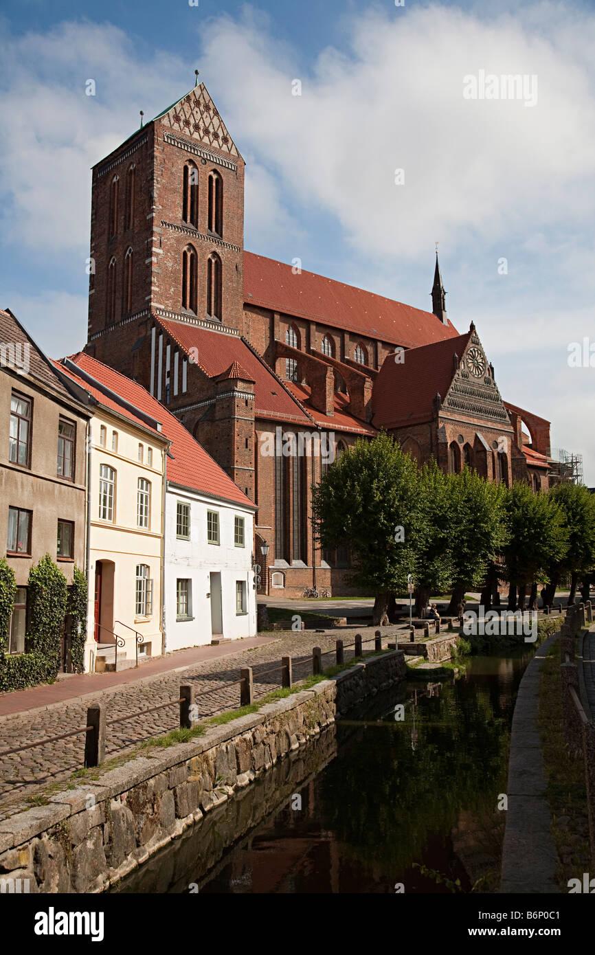 St Nikolai Kirche St Nicholas church Wismar Germany - Stock Image