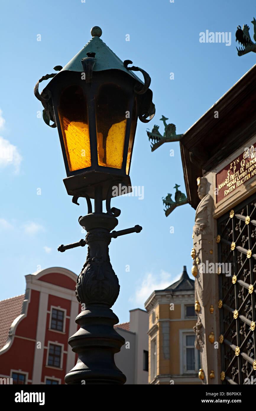 Street lamp Wismar Germany Stock Photo