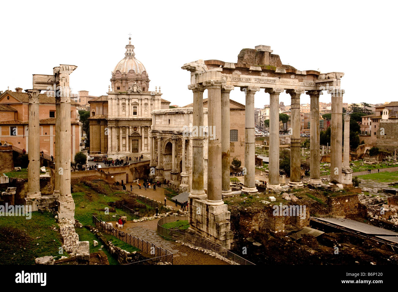 Italy, Rome. The Roman Forum, center of ancient Rome. - Stock Image