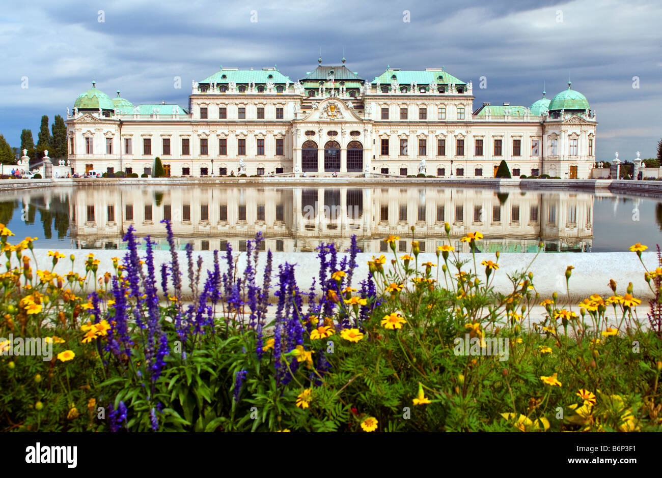 Vienna's Belvedere Palace, Baroque architecture, built by Prince Eugene of Savoy - Stock Image