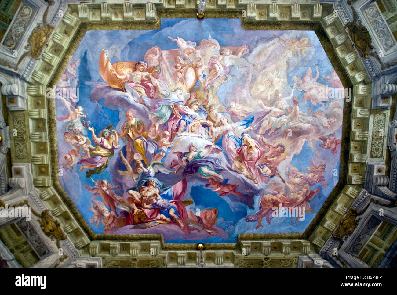Good Viennau0027s Belvedere Palace Marble Room Ceiling Mural, Baroque Architecture,  Built By Prince Eugene Of Savoy