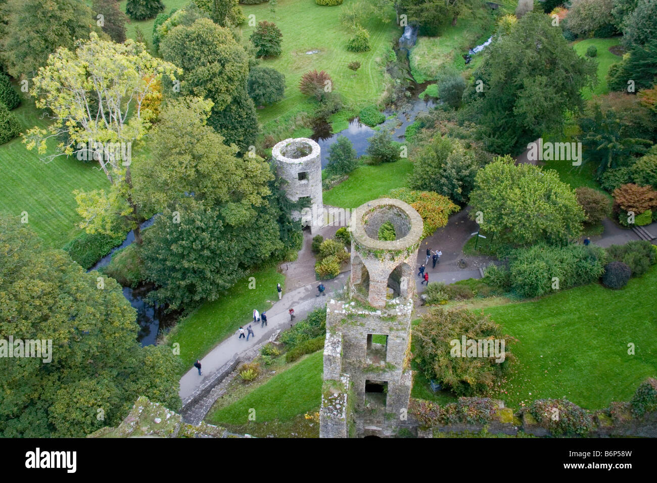 aerial view from barney castle in blarney co cork republic of ireland