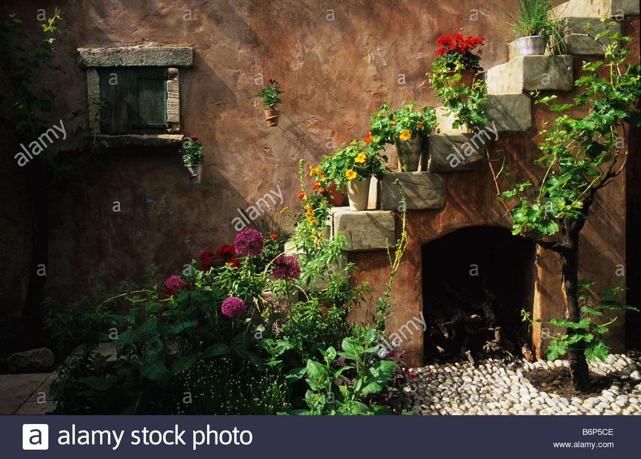 Summer May Garden Plant Combination Sun Sunny Stock Photos & Summer ...