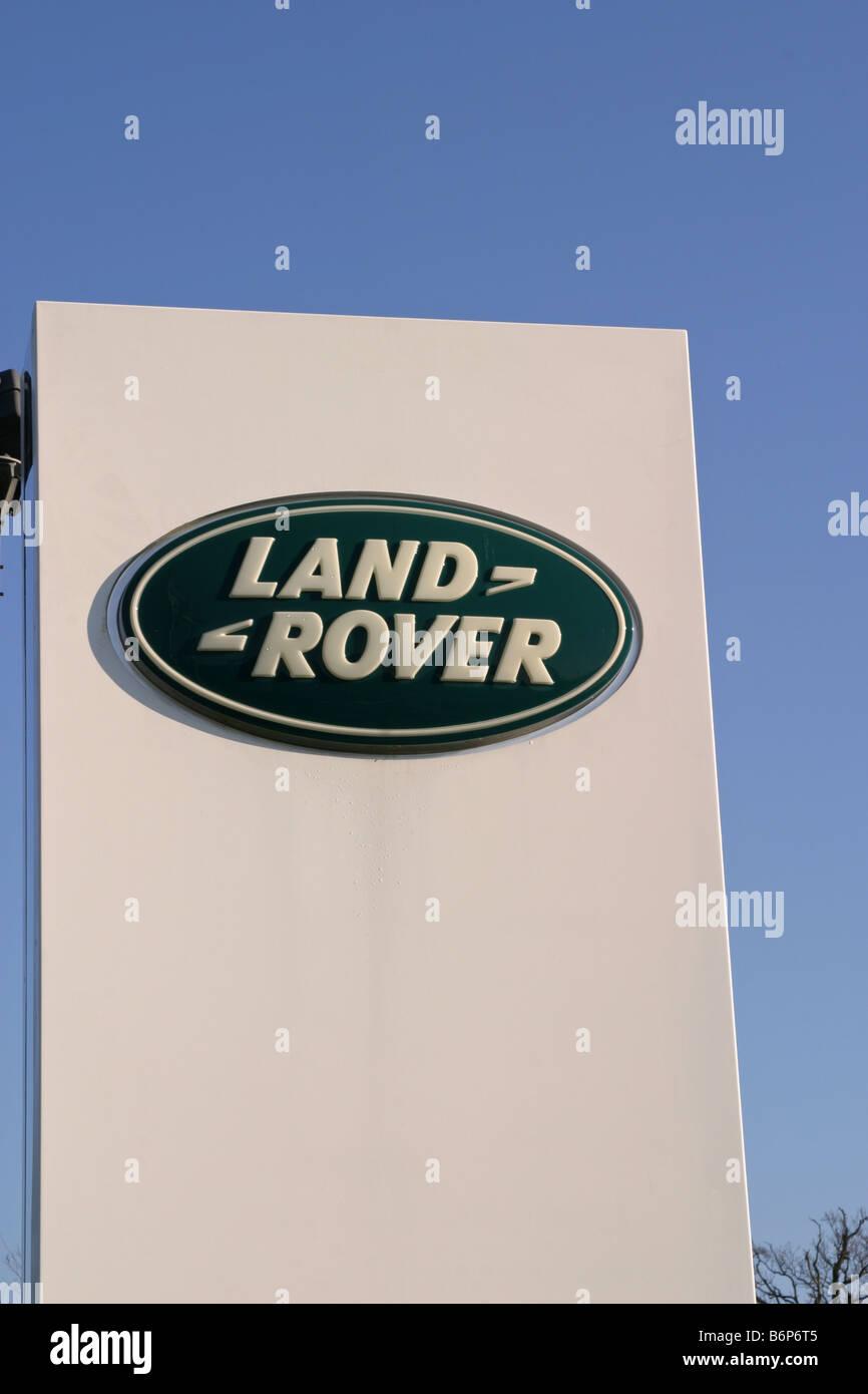 Land Rover Dealership Sign UK - Stock Image