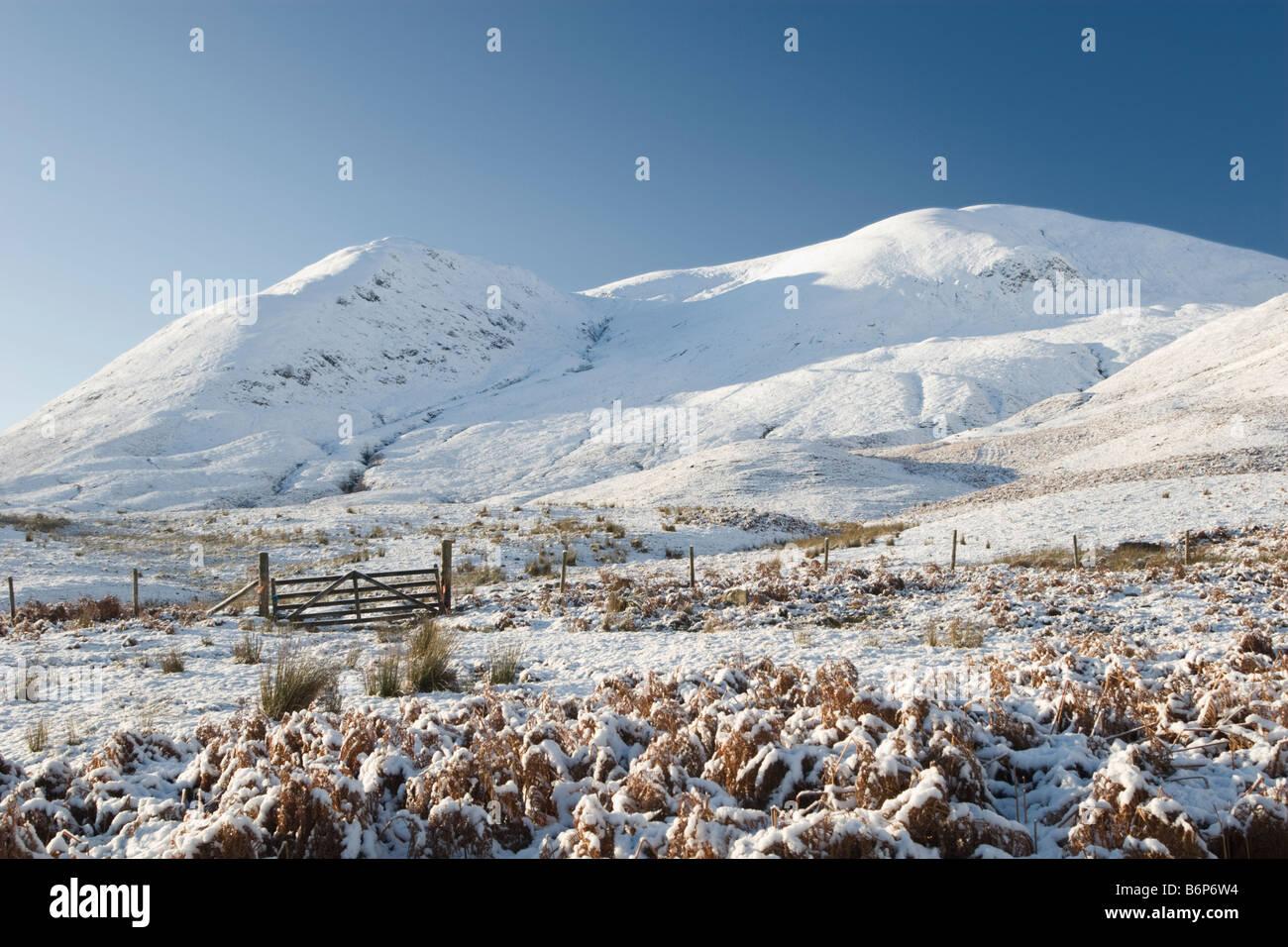 Scottish Highlands in Winter - Stock Image