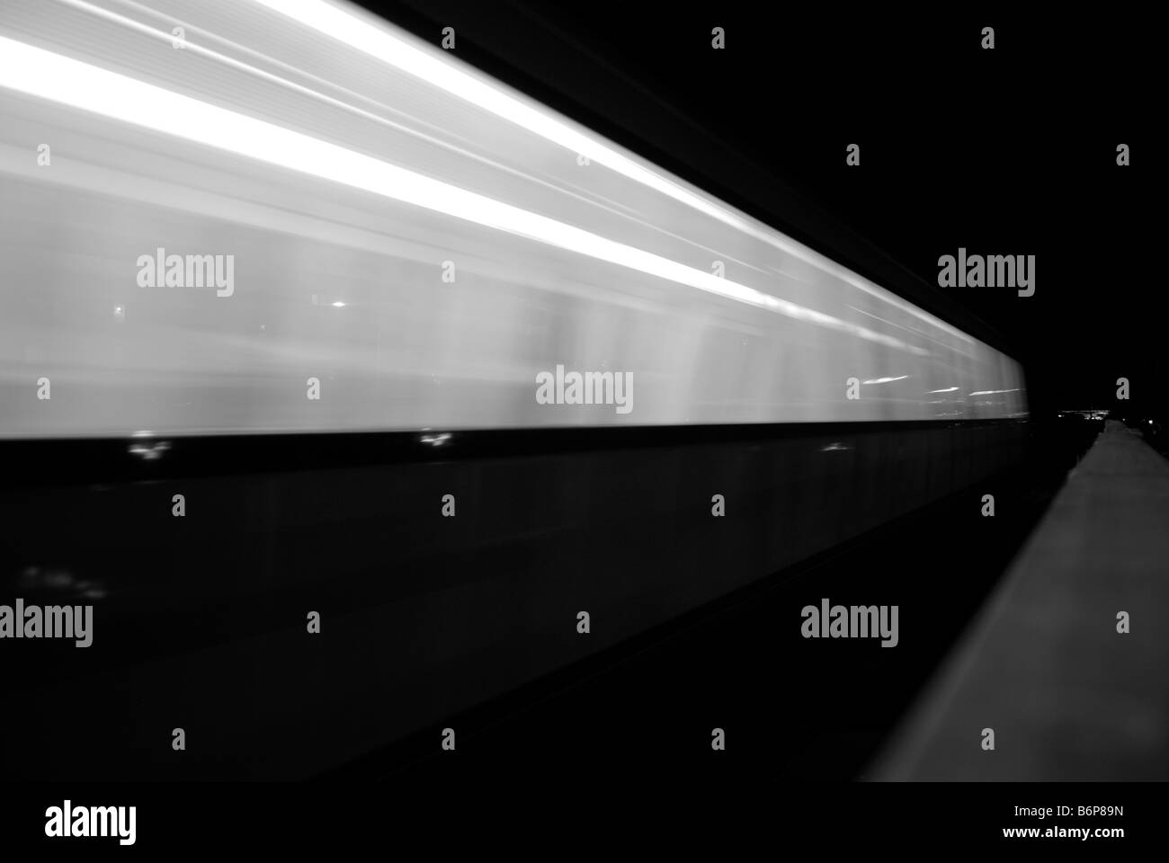 NIGHT TRAIN - Stock Image