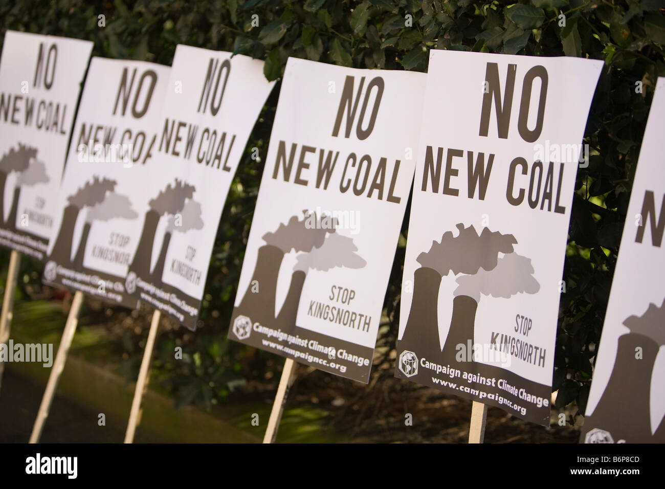 Protest banners at a climate change rally in London December 2008 - Stock Image