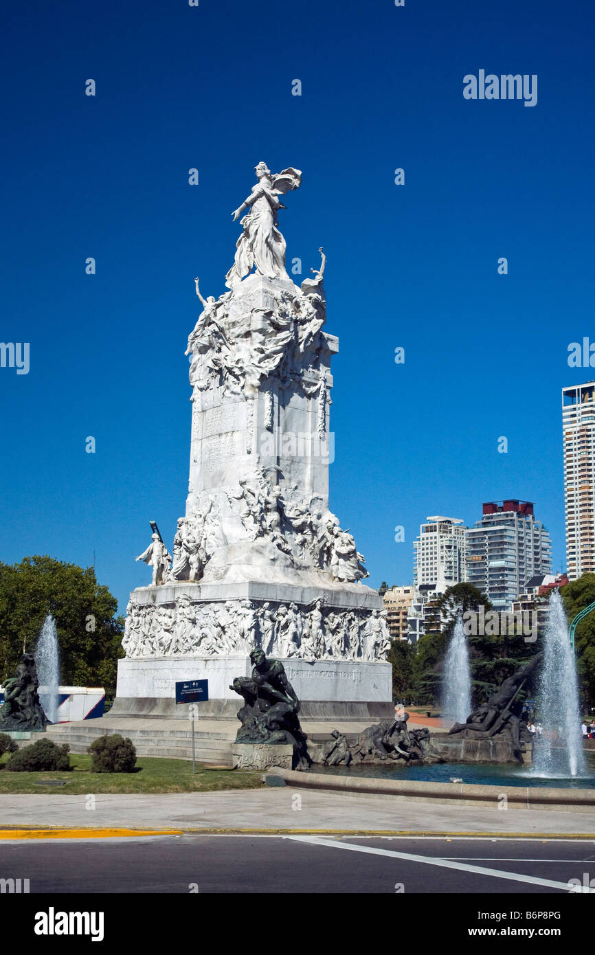 Monument to the Magna Carta on Libertador Palermo Park in Buenos Aires Argentina South America - Stock Image