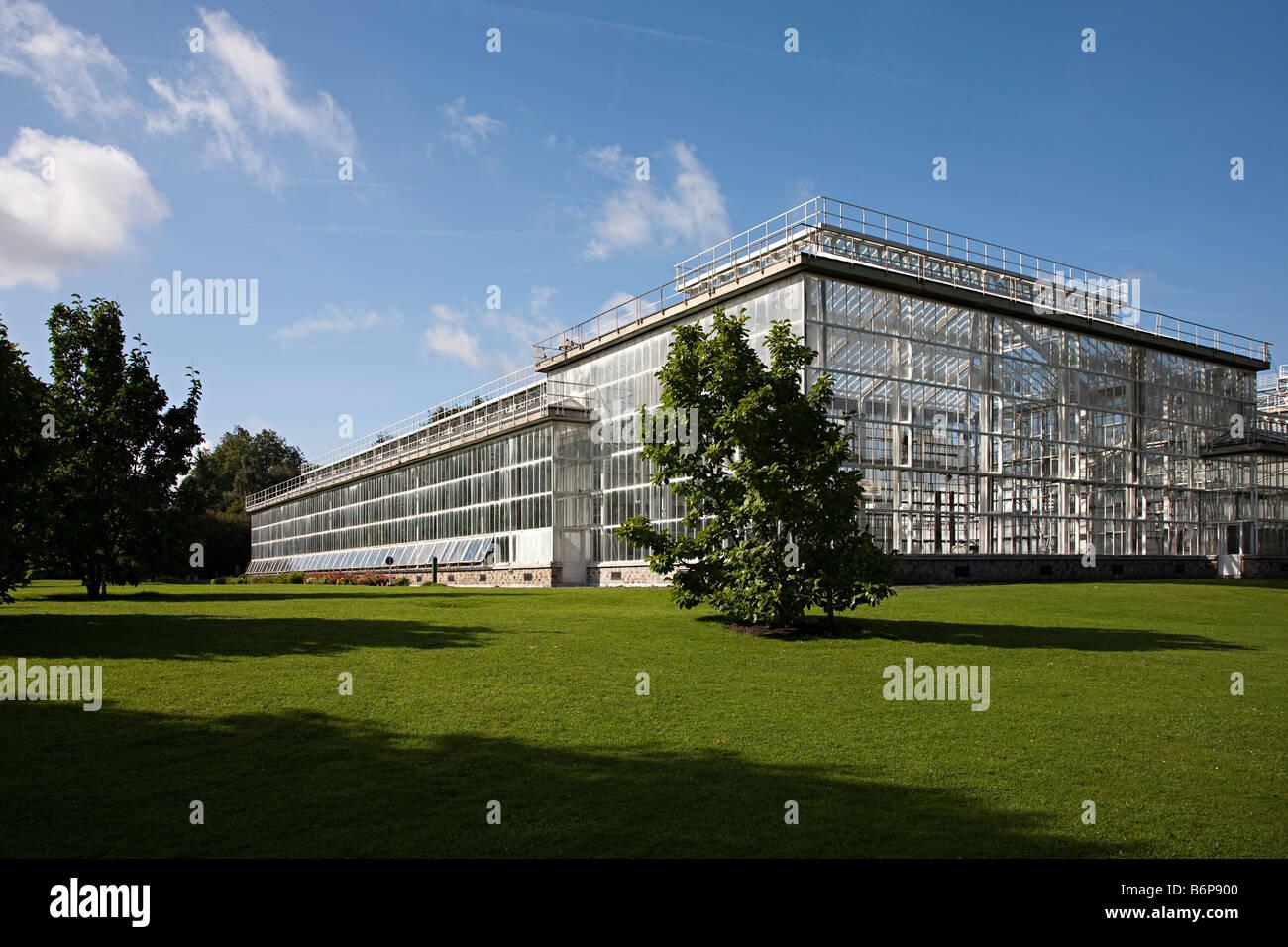 Greenhouse at National Botanic Gardens Nationale Plantentuin Meise Brussels Belgium - Stock Image