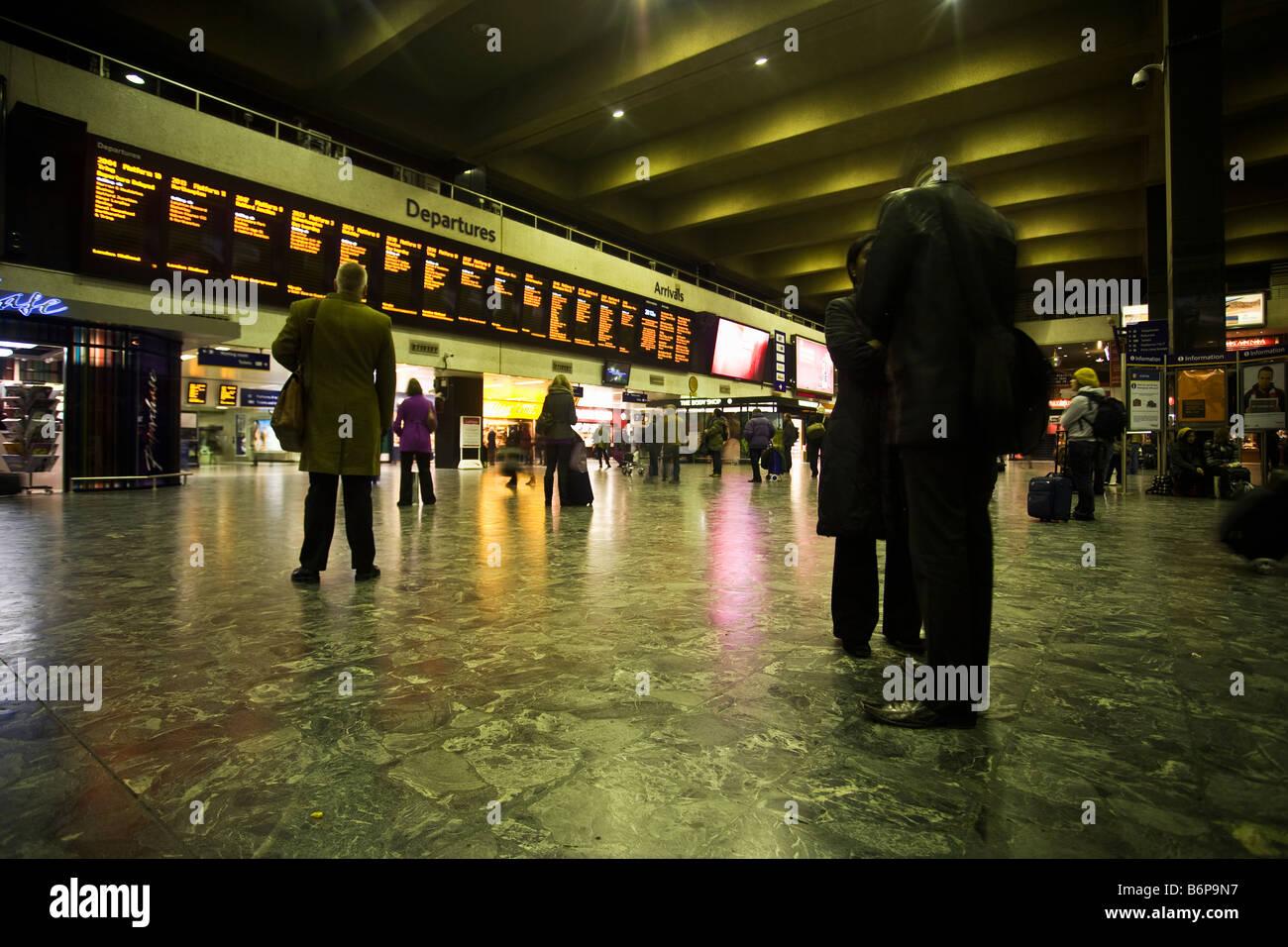 Euston Station Concourse Departure Hall London England UK United Kingdom GB Great Britain British Isles Europe - Stock Image