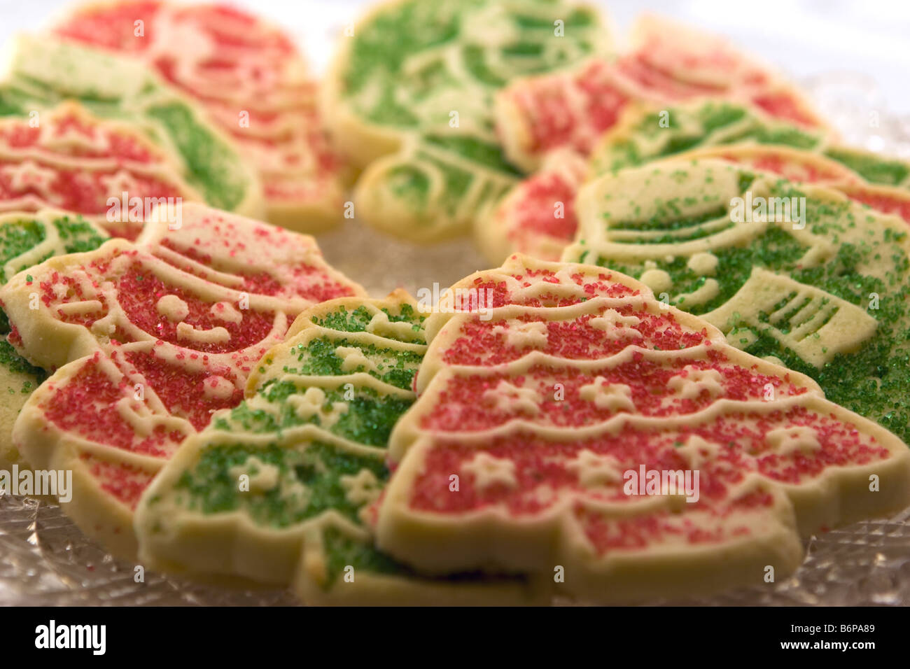 Red And Green Christmas Cookies Stock Photo 21389321 Alamy