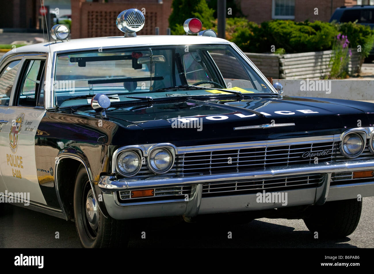 1960s police car Stock Photo: 21389402 - Alamy