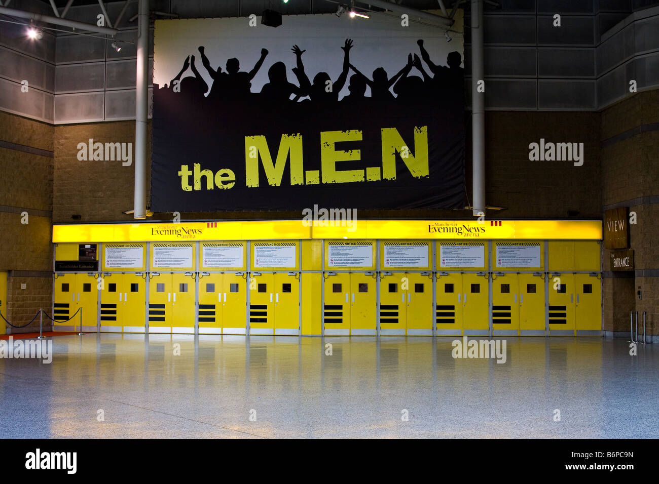 Main doors for the Manchester MEN arena Stock Photo