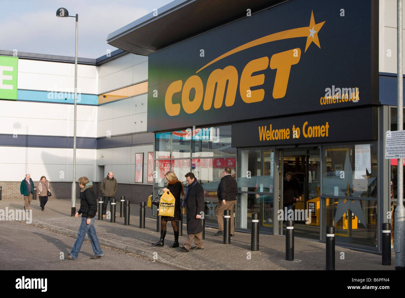 Comet is an electrical retailer in the United Kingdom, which is owned by KESA Electricals plc - Stock Image