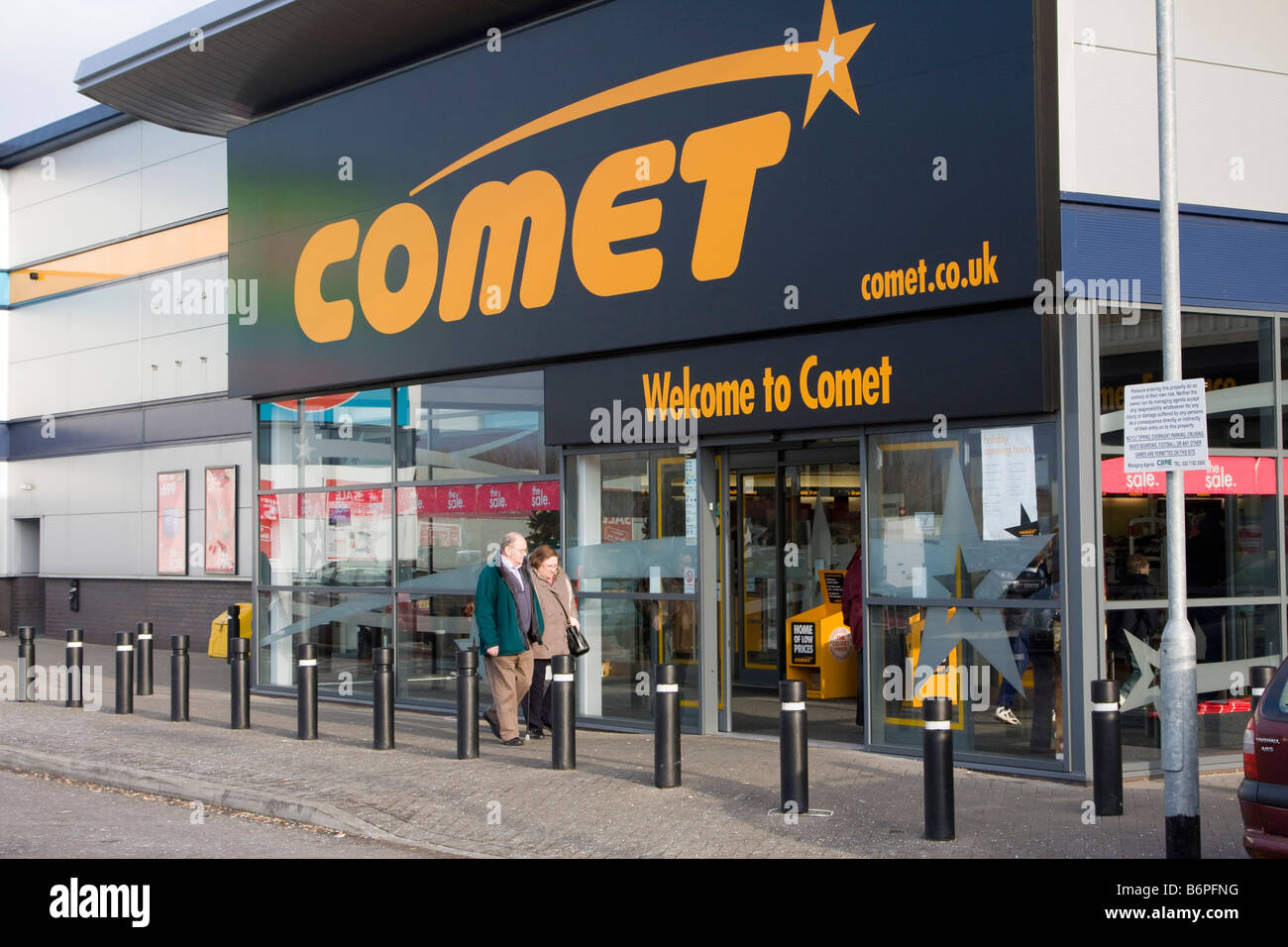 Comet is an electrical retailer in the United Kingdom, which is owned by KESA Electricals plc after the demerger - Stock Image