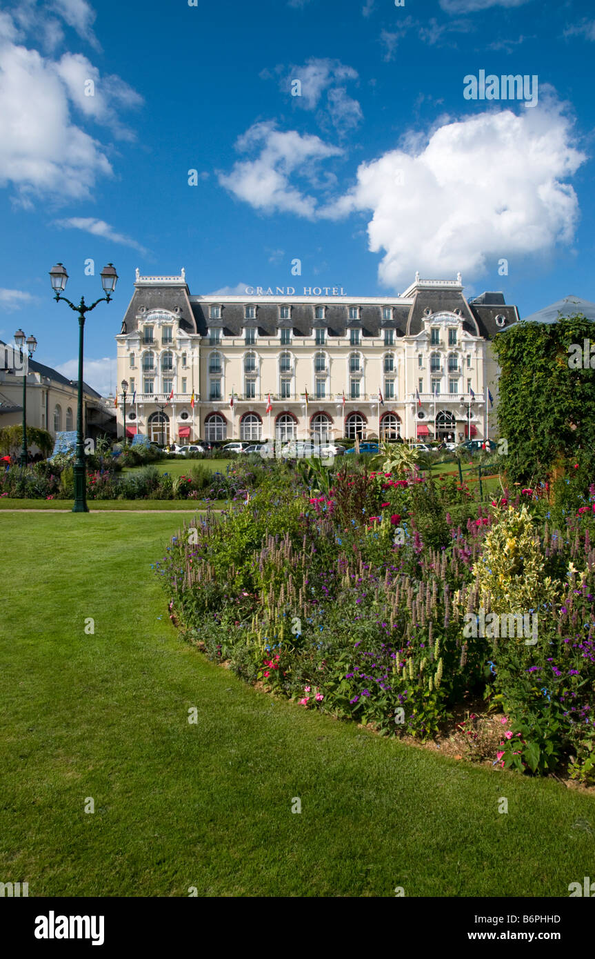 Grand hotel cabourg normandy france stock photos grand for Design hotel normandie france