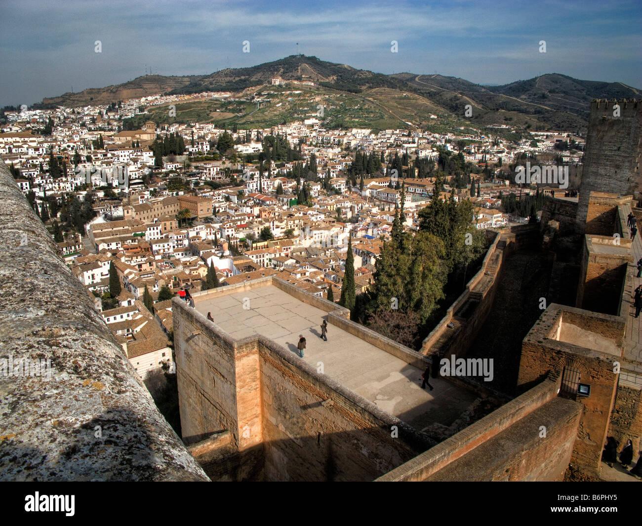 The Albaycin, The Moorish quarter in Granada, Andalucia, Spain from