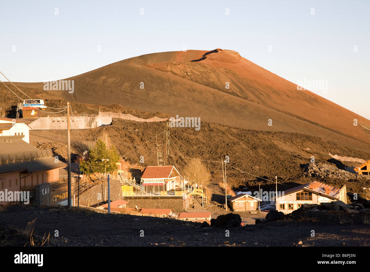 One of the Crater of Etna Volcano, Sicily - Stock Image