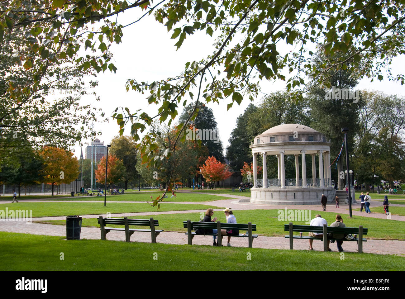 Parkman Bandstand in Boston Common - Stock Image