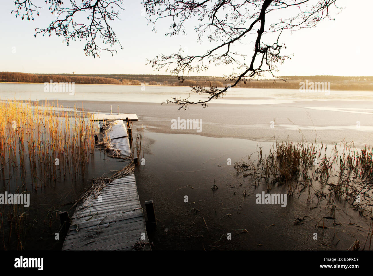 Winter arrives, Lohja, Finland - Stock Image