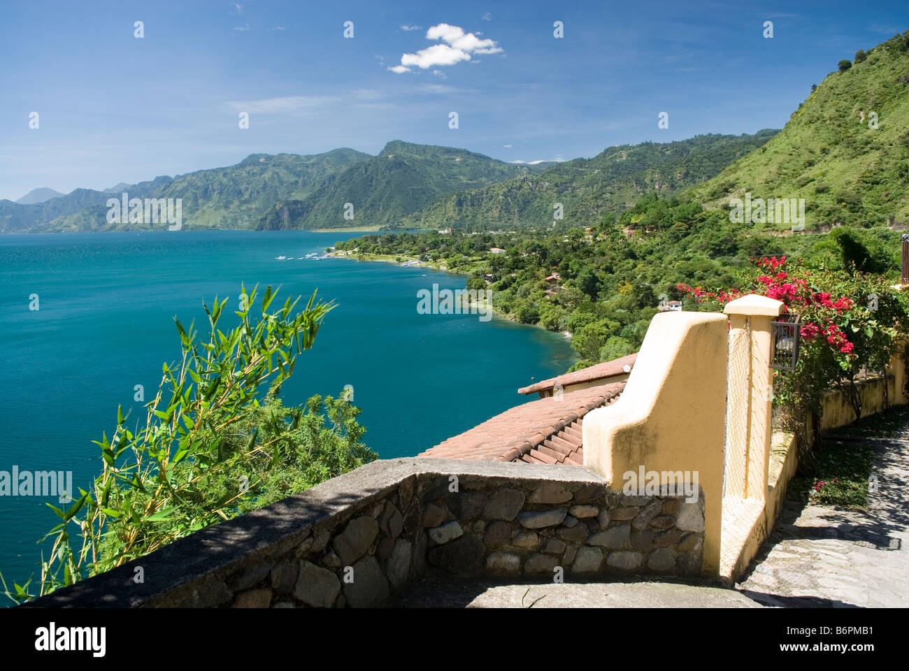 Lago de Atitlan, seen from Santa Catarina Palopo, Guatemala. - Stock Image