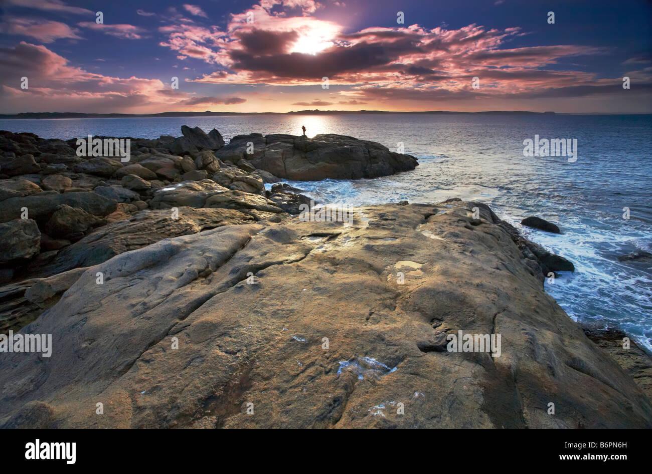Point Ellan Vivonne Bay Kangaroo Island South Australia Stock Photo