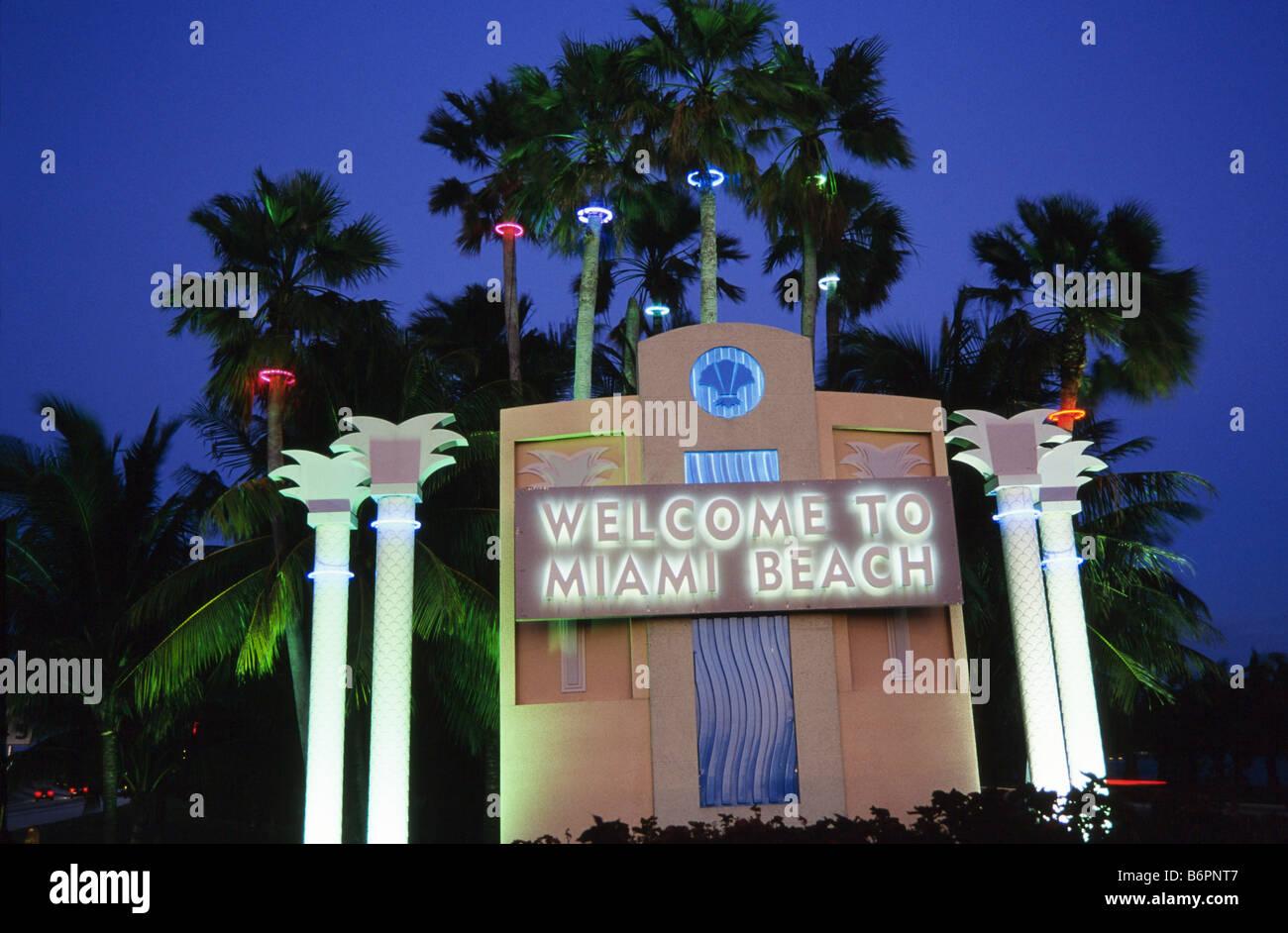 South Beach, Art Deco district, Miami Beach - Stock Image