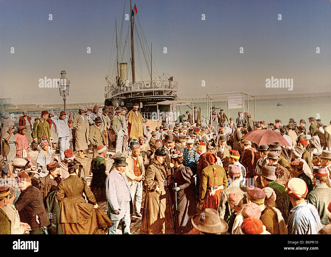 Arriving in Algier, Algeria - Stock Image