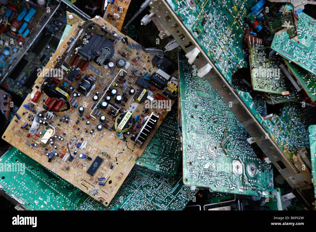 Old Computer Parts Artist Uses To Recreate Circuitboardclockjpg Used Stock Photos