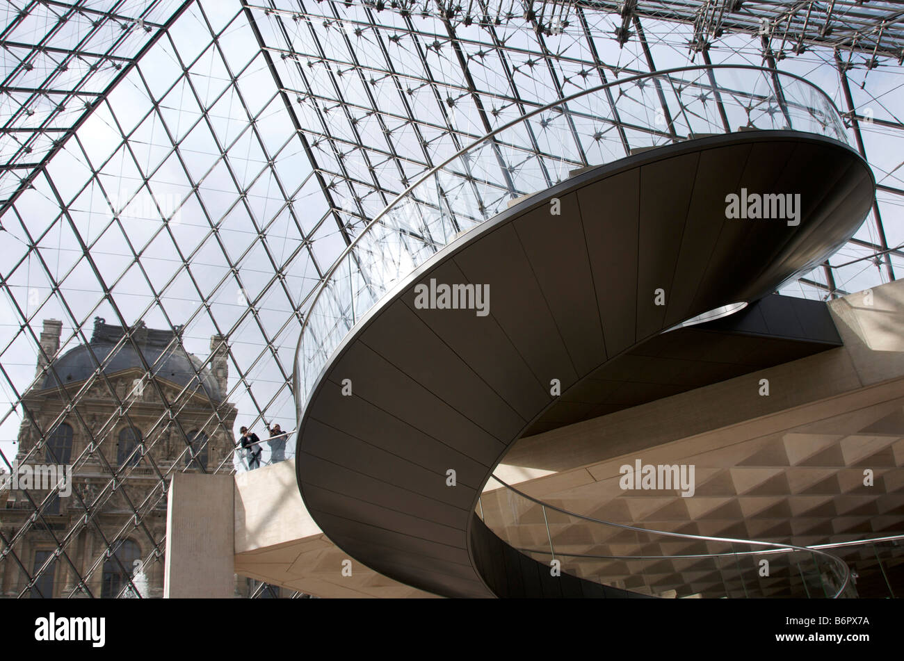 Stairs in Louvre Museum, Paris, France, Europe - Stock Image
