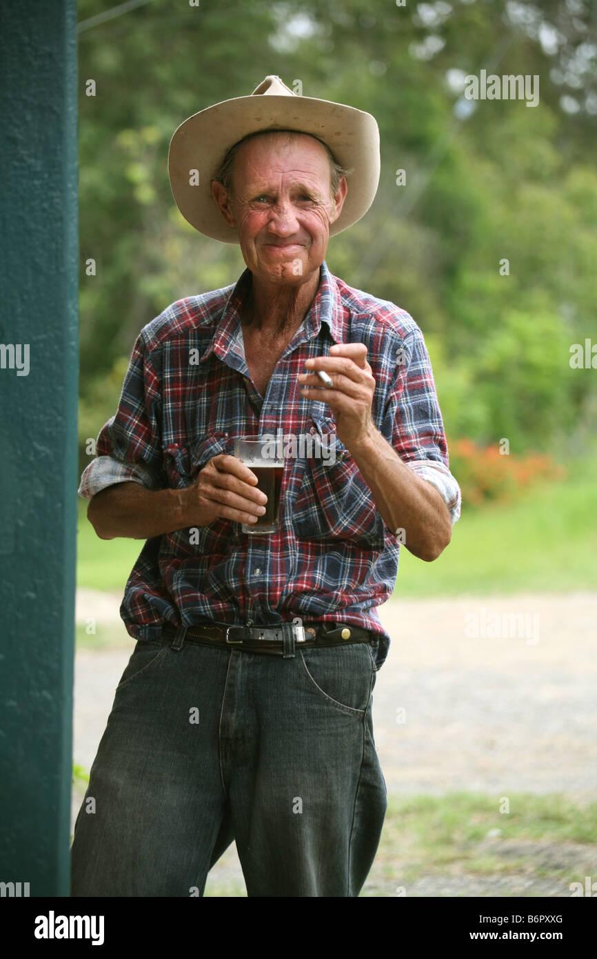 Australian Stockman at Bellbrook NSW Australia - Stock Image