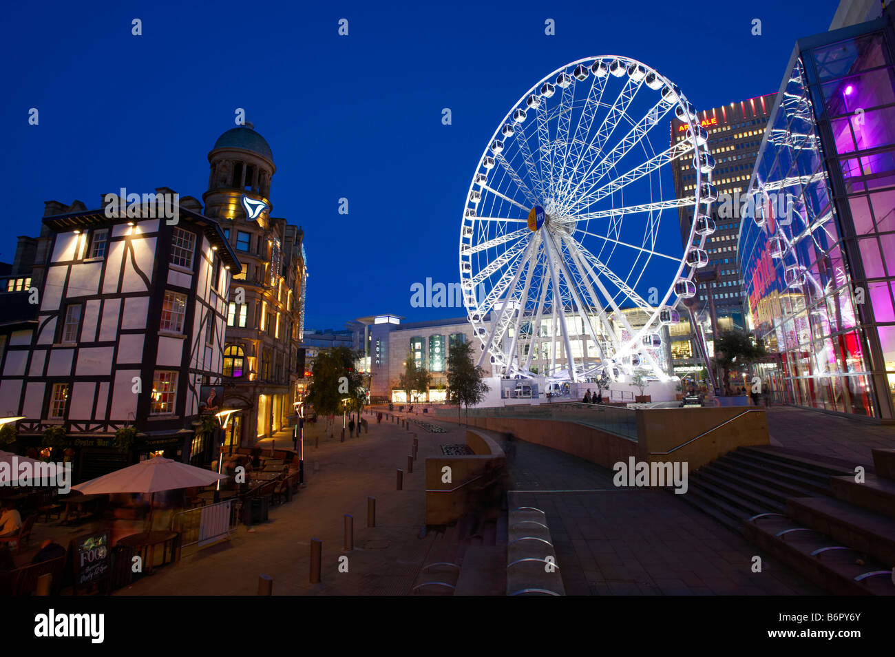 Manchester At Night - Stock Image