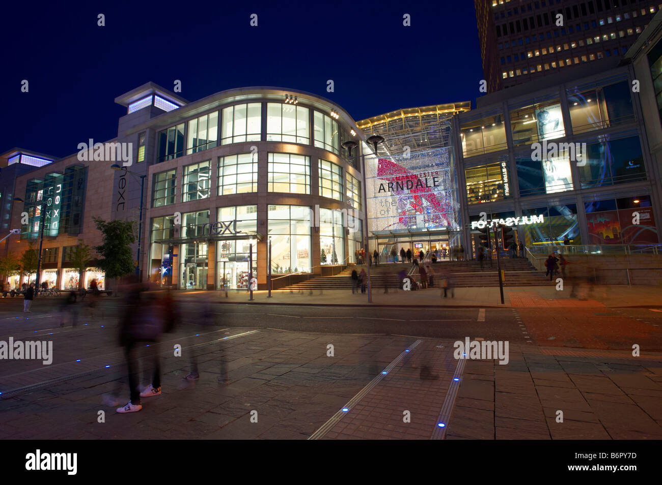 Manchester Arndale Centre At Night - Stock Image