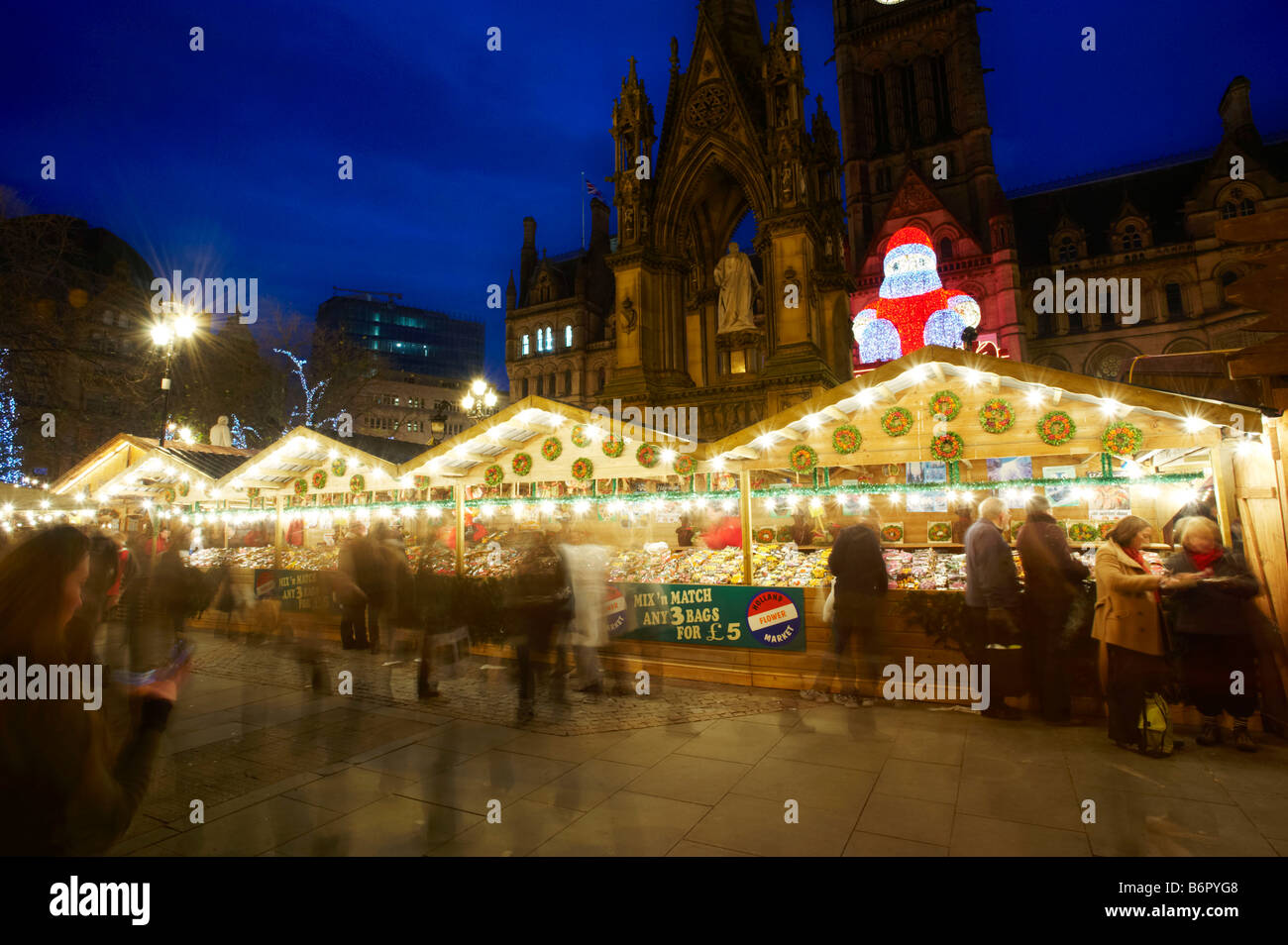 The Christmas Markets Manchester - Stock Image
