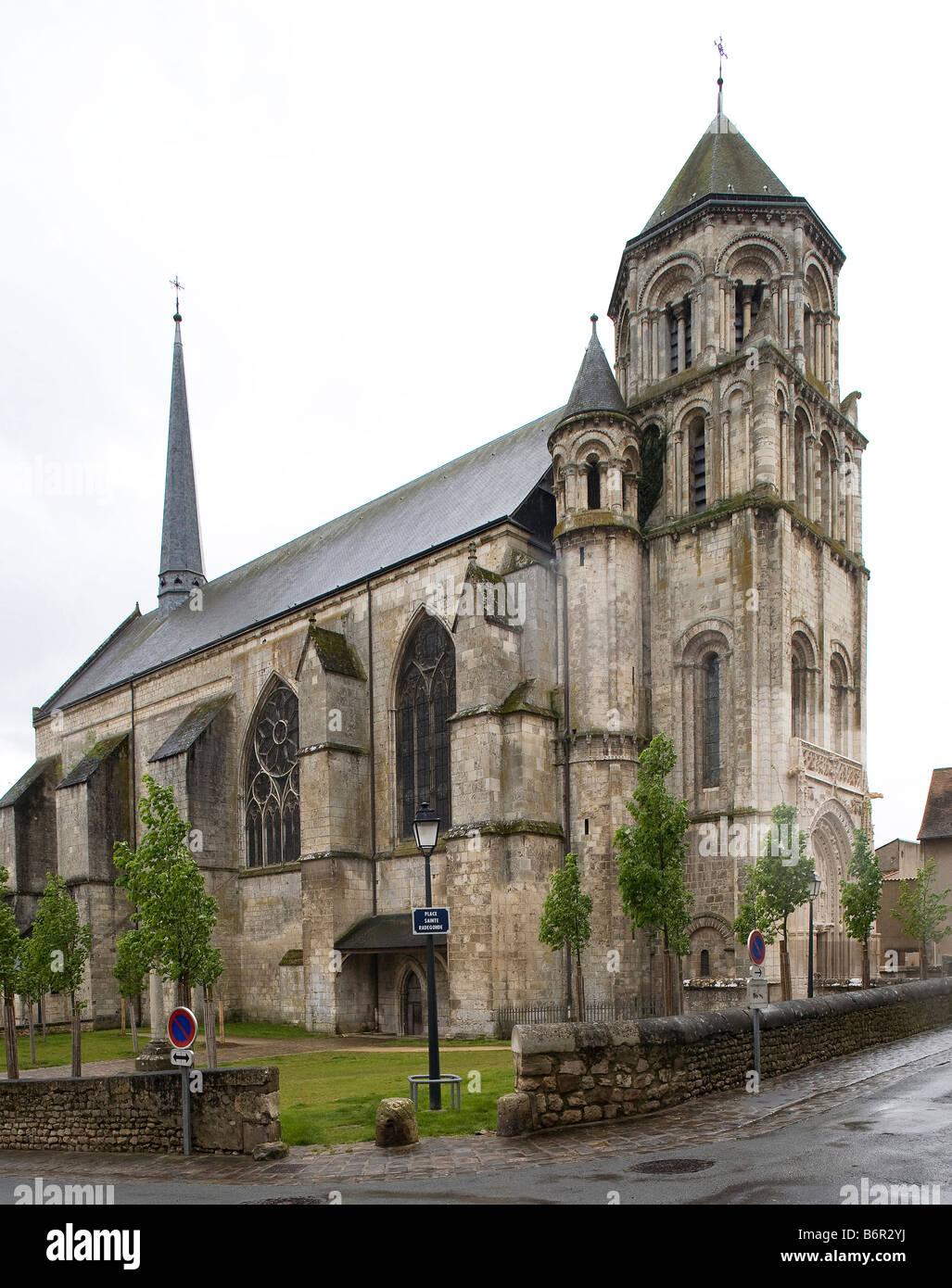 Poitiers, Sainte-Radegonde, Blick von Nordwesten - Stock Image