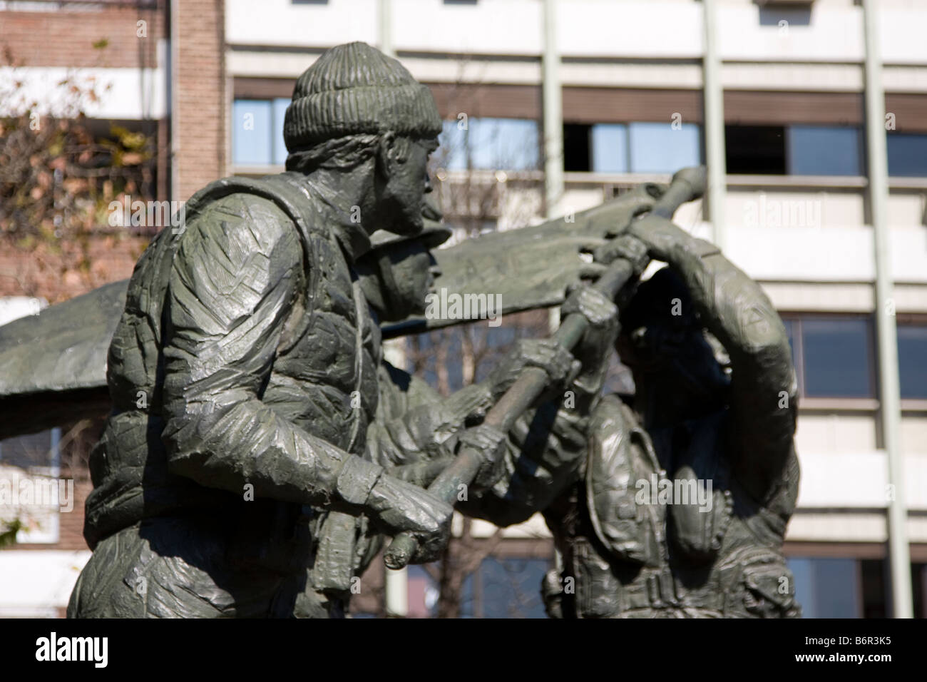 Detail from monument to Malvinas Heroes in Cordoba, Argentina - Stock Image