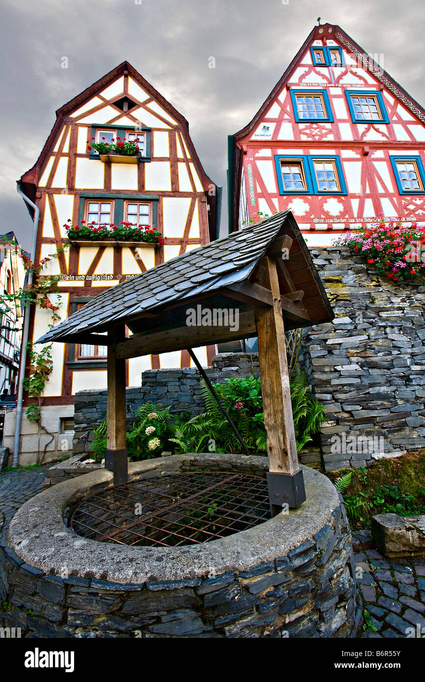 well in Bacharach, Germany Europe - Stock Image